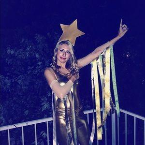 Pants - Gold metallic leggings